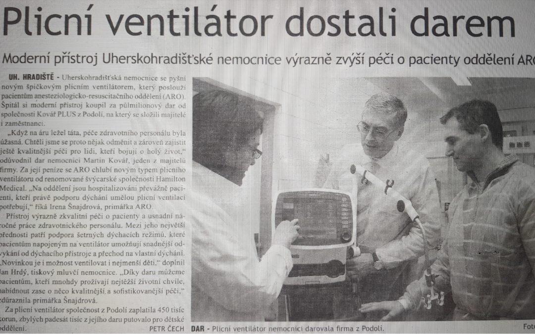 Dar pro Nemocnici Uherské Hradiště